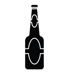 silhouette of beer bottle vector image