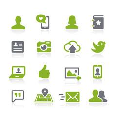 social icons natura series vector image