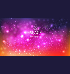 Space galaxy background with cosmic light and vector