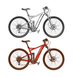 Sports high-speed bicycles vector