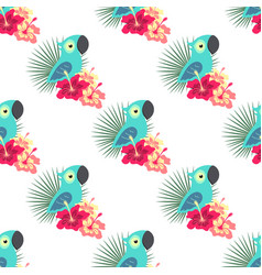 tropical pattern with parrot vector image