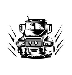 Truck lorry retro vector
