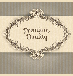 vintage frame and grunge background vector image