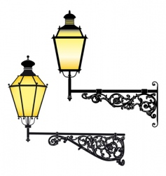 Wall street lamps vector