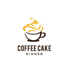 warm coffee cake cup vector image