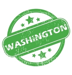 Washington green stamp vector image