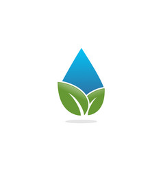 water drop leaf logo vector image