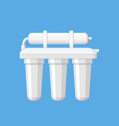 Water filter in a flat style vector