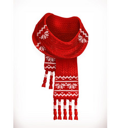 Winter scarf 3d icon vector image
