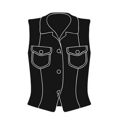 women sleeveless sports jacket beige button-down vector image