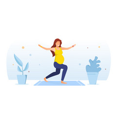 Workout for pregnant concept vector