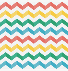 zigzag seamless pattern chevron vector image