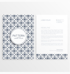 Abstract brand letterhead design with pattern vector