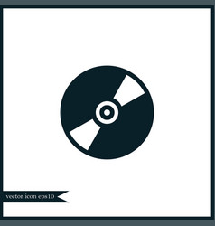 cd disc icon simple vector image