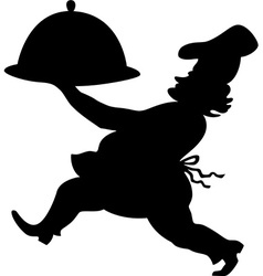 Cook silhouette vector