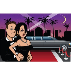 hollywood celebrities red carpet vector image vector image