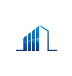 modern building construction line logo vector image vector image