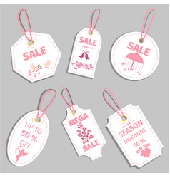 valentine s day sale tag sale coupon voucher tag vector image vector image