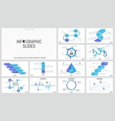 big set of minimal infographic design templates vector image