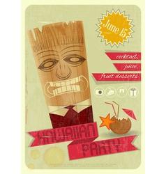 Hawaiian party vector image vector image