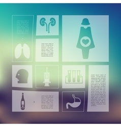 medical infographic with unfocused background vector image