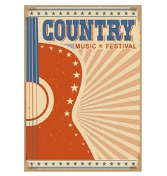 music festival background with guitar poster vector image vector image