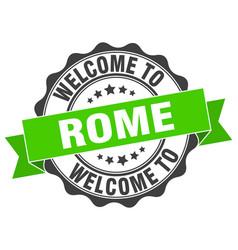 rome round ribbon seal vector image vector image
