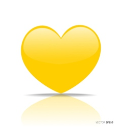 Yellow Heart vector image