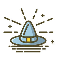 icon witch hat for halloween on white background vector image