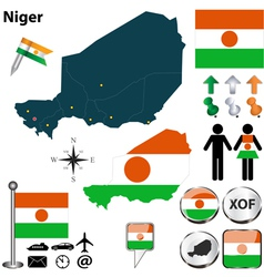 Niger map vector image vector image