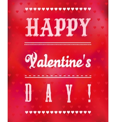 Romantic Valentines Day Greeting Card vector image vector image