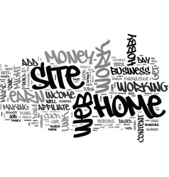 affiliate web sites make money text word cloud vector image