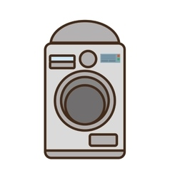cartoon washing machine home appliance vector image vector image