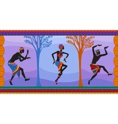 Ethnic dance african people vector image vector image