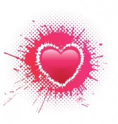heart blot vector image vector image