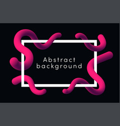 modern abstract background with pink fluid shapes vector image