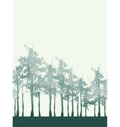 Tree Forest Background vector image vector image