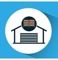 warehouse boxes concept icon vector image vector image
