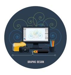 Web design concept vector image vector image