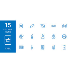 15 call icons vector image