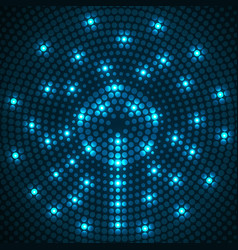 abstract glowing dotted background radial pattern vector image