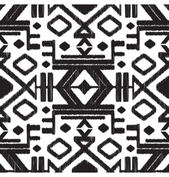 abstract tribal black and white seamless vector image