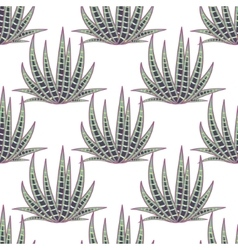 Agave succulent desert seamless pattern vector image