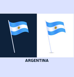 argentina flag waving national flag italy vector image