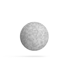 Ball shape with pixelated texture vector