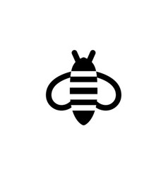 bee icon animal vector image