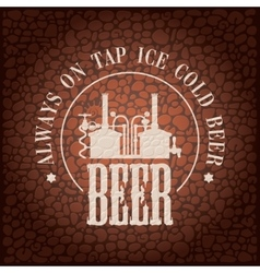 Brewery on stone wall vector