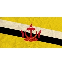 Brunei paper flag vector