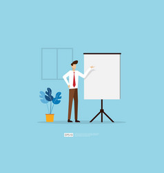 Businessman presenting marketing idea plan vector