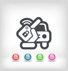 Car remote key vector